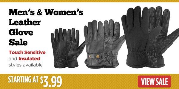 Men's & Women's Leather Gloves