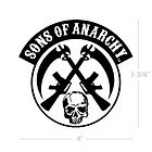 Sons of Anarchy Crossed Guns and Skull Patch