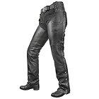 Xelement Womens Dakota Black Leather Chaps