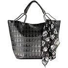 Big Women's Skull Black Shoulder Handbag