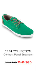 24:01 Collection Contrasts Panel Sneakers