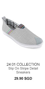 24:01 Collection Stripe Sneakers