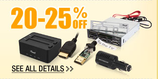 20-25% OFF SELECT CABLES & ACCESSORIES!*