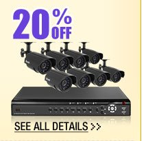 20% OFF SELECT SURVEILLANCE EQUIPMENT & ACCESSORIES!*