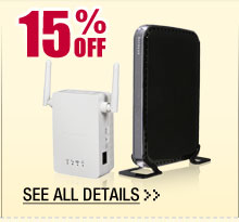 48 HOURS ONLY! 15% OFF ALL WIRELESS RANGE EXTENDERS / MEDIA BRIDGES!*