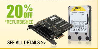 72 HOURS ONLY! 20% OFF SELECT REFURBISHED COMPONENTS!*