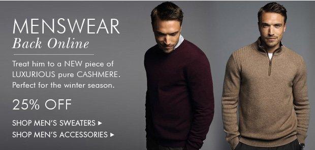Download Images:  Menswear - Back Online