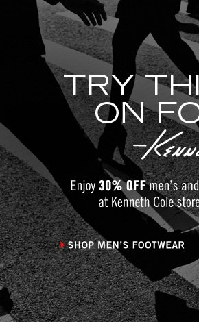 Enjoy 30% OFF men's and women's shoes TODAY ONLY at Kenneth Cole stores and kennethcole.com. › SHOP MEN'S FOOTWEAR