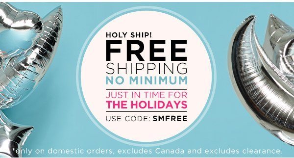 Free Shipping! No Minimum!