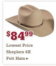 84 99 4X Felt Hats