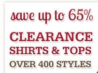 Clearance Shirts and Tops