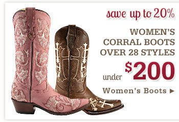 Corral Boots under 200
