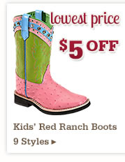 Kids Red Ranch Boots on Sale