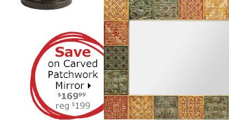 Save on Carved Patchwork Mirror