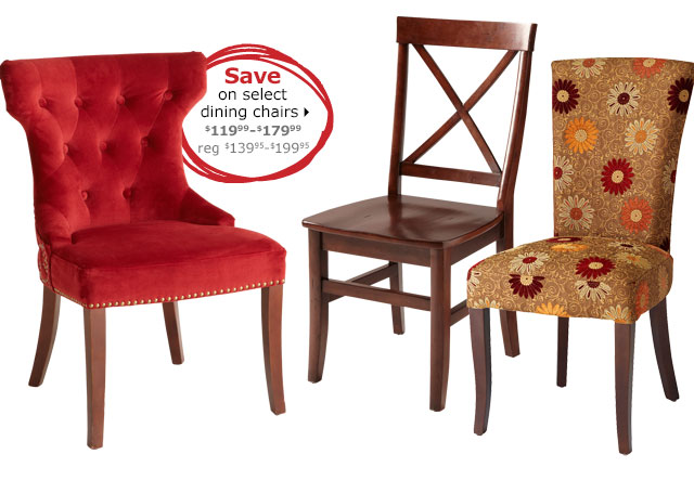 Save on select dining chairs