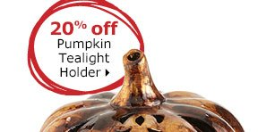 20% off Pumpkin Tealight Holder