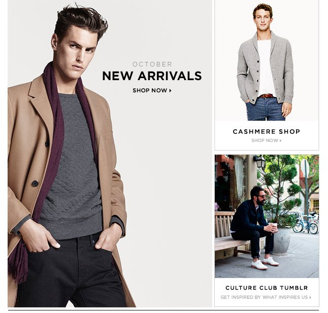 New For October: Shop Men's New Arrivals