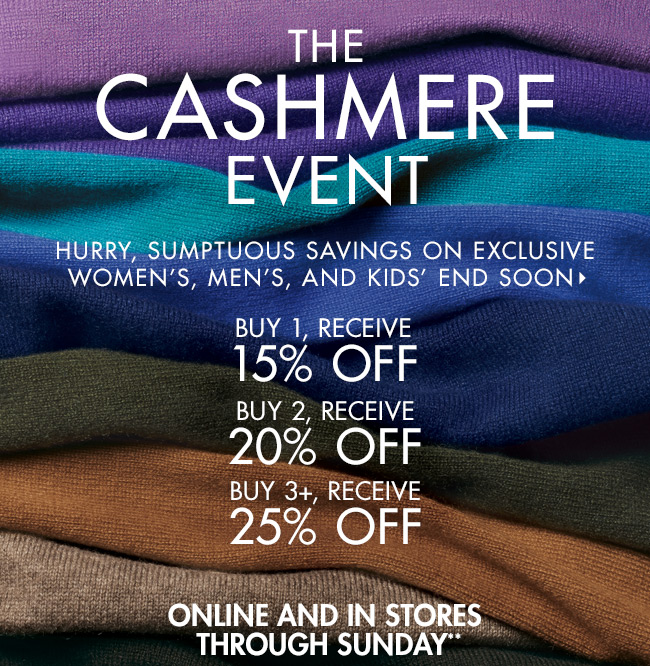Up to 25% OFF: Cashmere Event