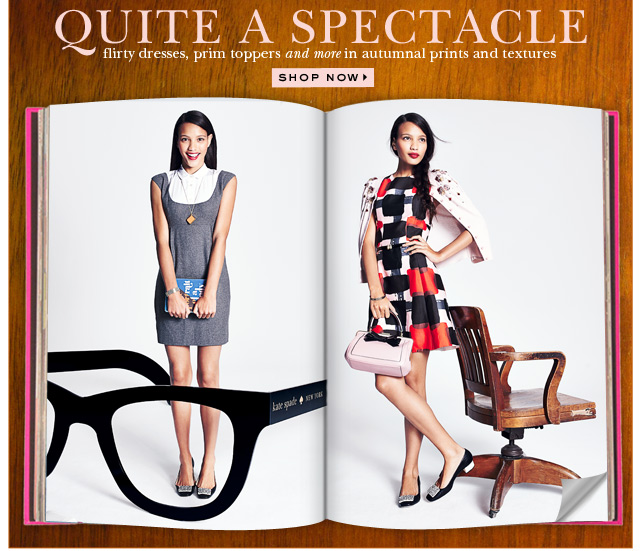 quite a spectacle. shop now.