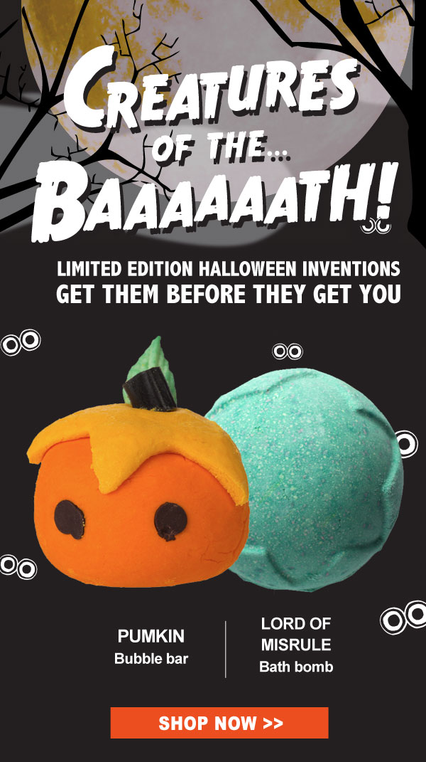 Limited Edition Halloween Inventions. Creatures of the Baaaath!