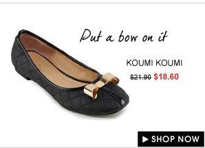 KOUMI KOUMI Orianda Gold Bow Flats