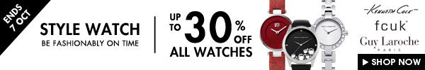 Watches up to 30% off
