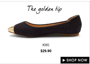 KIKI Metallic gold cap pumps