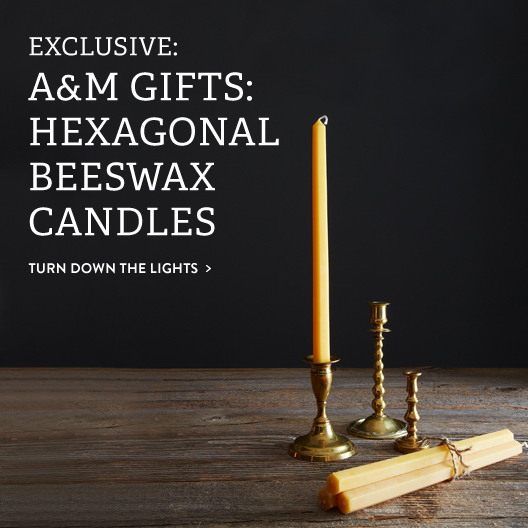 Hexagonal Beeswax Candles