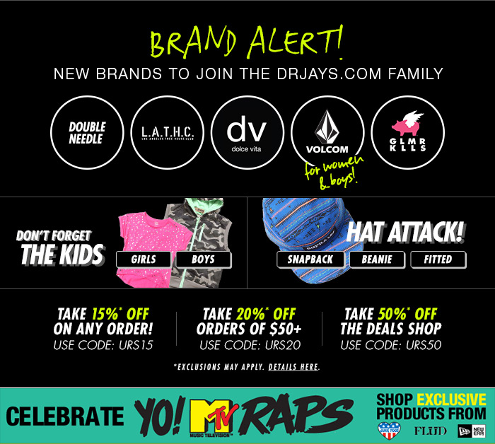 Shop DrJays.com Take 50% Off The Deals Shop With Promo Code.
