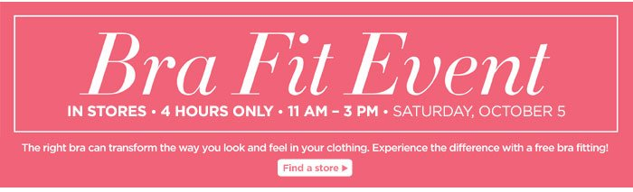 Bra Fit Event