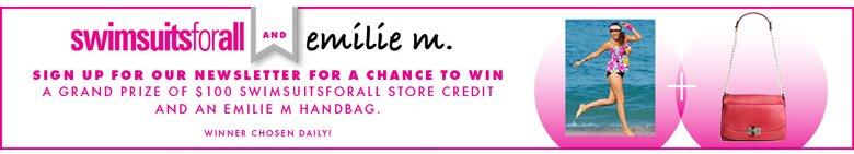 $100 SwimsuitsForAll Store Credit and An Emelie Handbag/