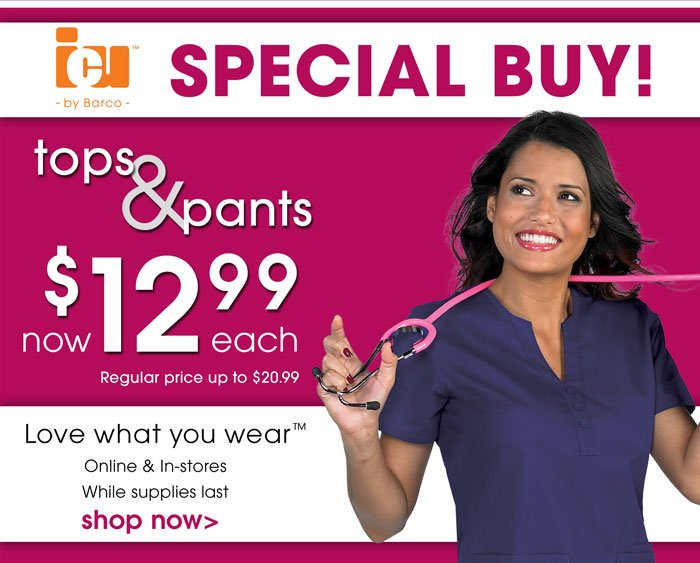12.99 Barco ICU Tops and Pants