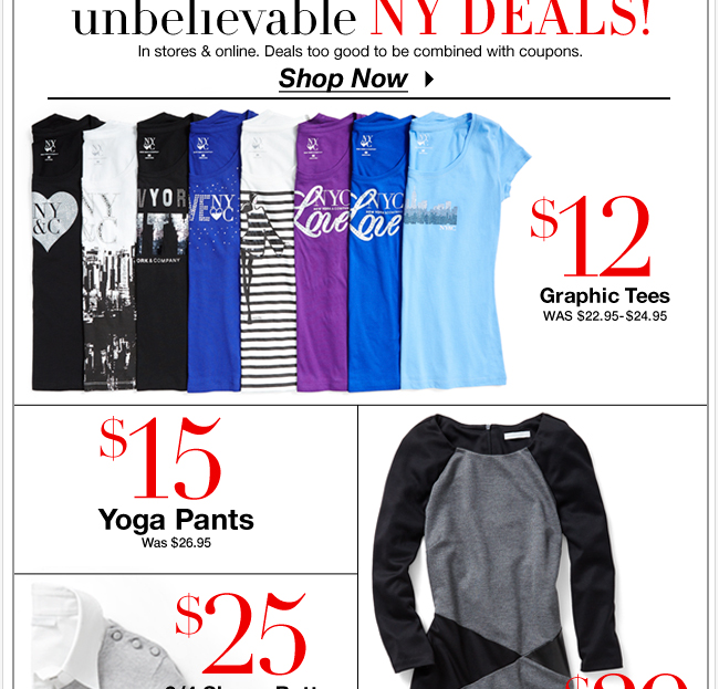 Unbelievable NY Deals In Stores & Online!