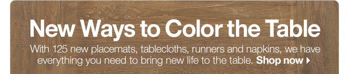 New Ways to Color the Table