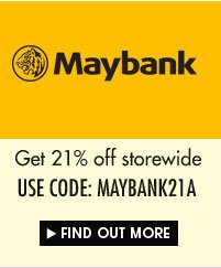 Get 21% off with Maybank voucher code!