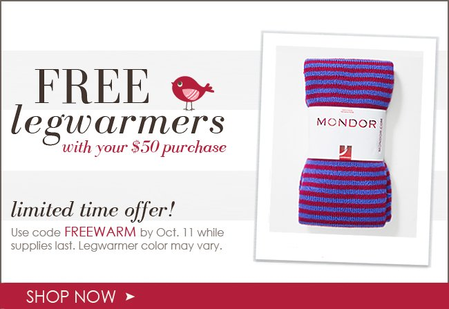 A Gift for You Free Legwarmers