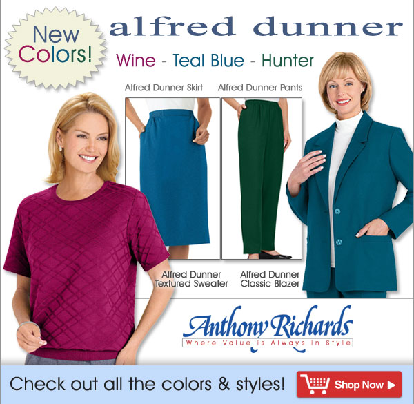 New Colors from Alfred Dunner - Shop Now >>