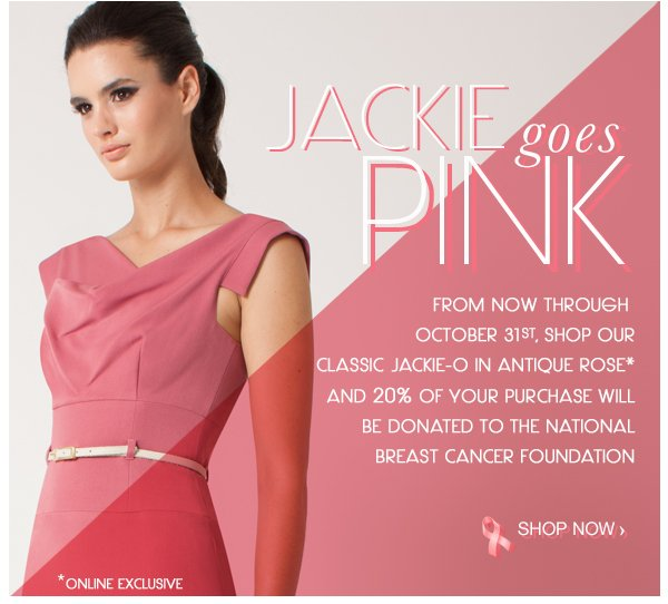 Jackie Goes Pink: Shop with Purpose