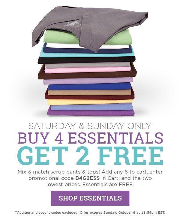 Buy 4 Essentials get 2 FREE - Shop Essentials