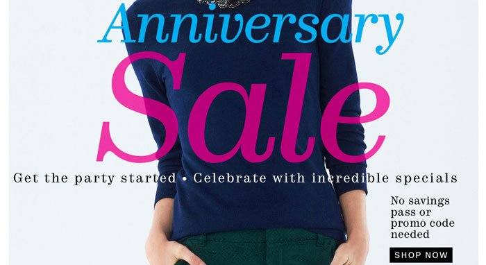 Anniversary Sale Shop Now