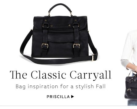 The Classic Carryall - Bag inspiration for a stylish Fall. Shop Priscilla