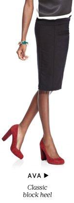 Ava - Classic block heel