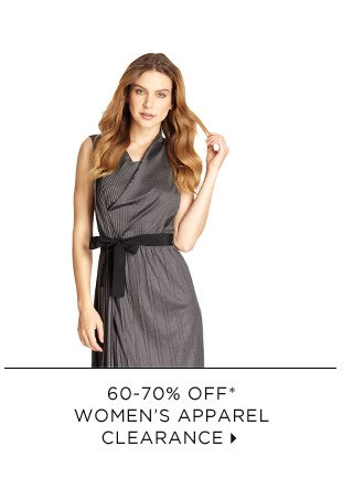 60-70% Off* Women's Apparel Clearance