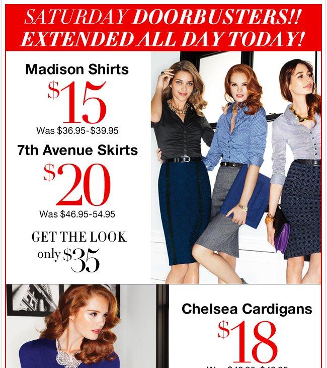 Saturday Doorbusters till 2pm! Shop NOW