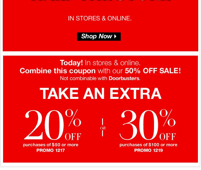 Take an Extra 30% Off with Coupon!