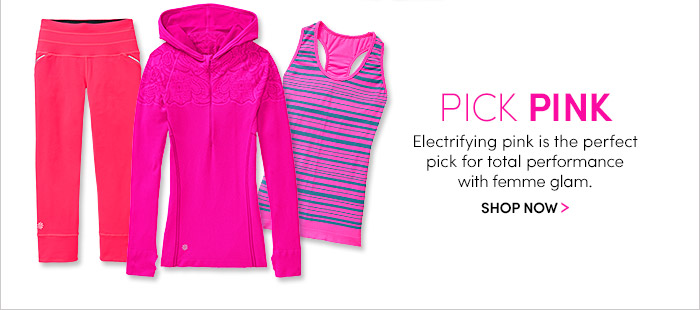 PICK PINK. SHOP NOW
