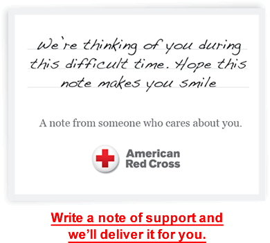 Write a note of support and we'll deliver it for you.