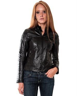 L.Y.N.N by Carla Ferreri Leather Women's Jacket Made In Italy