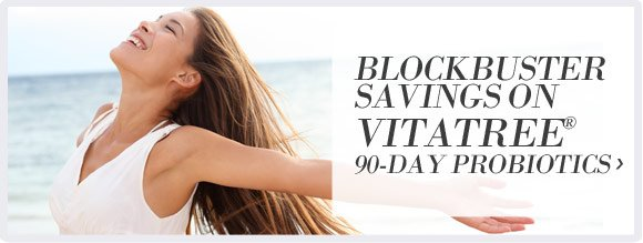 Blockbuster savings on VitaTree® 90-Day Probiotics