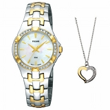 Pulsar PTC536 Women's Two Tone Stainless Steel MOP Dial Watch